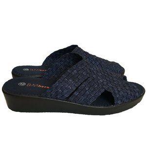 Bernie Mev 40 Denim Blue Slides Comfort